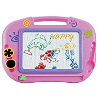 TOYMYTOY Kids Erasable Doodle Drawing Board Toys Gift for Girls Boy Kids Children (Random Color)