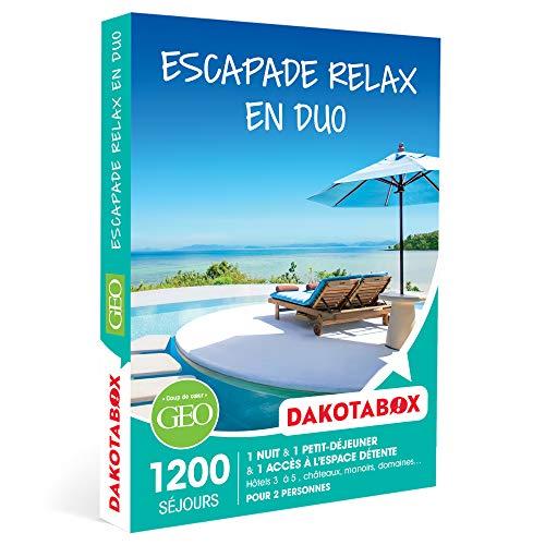 DAKOTABOX - Escapade relax en duo - Coffret Cadeau Séjour Bien-être - 1 nuit avec...