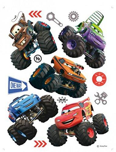 1art1 75264 Cars - Toon, Monster Truck Hook Und Seine Freunde Wand-Tattoo Aufkleber Poster-Sticker 65 x 42 cm (Disney Cars Monster Truck)