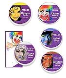 KarnevalsTeufel Theaterschminke MAKE UP Klassik, verschiedene Farben (Space-Silber)