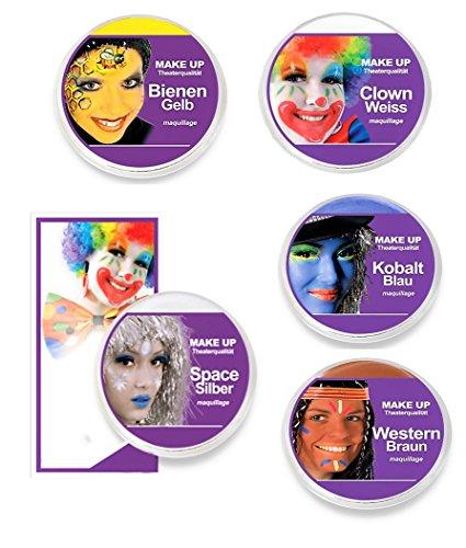 KarnevalsTeufel Theaterschminke Make UP Klassik, (Space-Silber)