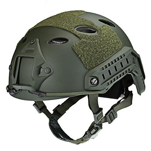 Youwendu Einstellbarer taktischer Helm Airsoft Gear Paintball Kopfschutz mit Nachtsicht-Sportkamerahalterung