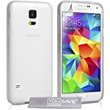Yousave Accessories Silicone Gel Cover Case for Samsung Galaxy S5 - Clear