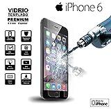 IPhone 6/6S Cristal Templado [dureza 9H] Protector Pantalla HD Bright [0,25 mm de espesor]