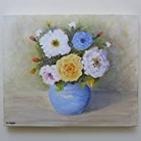 FLOWERS IN A BLUE POT – Pittura