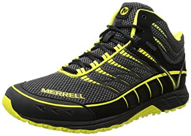 Merrell Mix Master Tuff Mid Waterproof, Men's Lace-Up Running Shoes - Black-Schwarz (Black/Zest), 7 UK