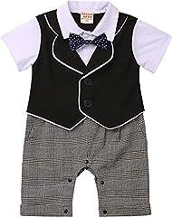 Idea Regalo - ZOEREA 1 pezzo pagliaccetti bambino vestiti battesimo bimbo estate short sleeve cotton pagliaccetto