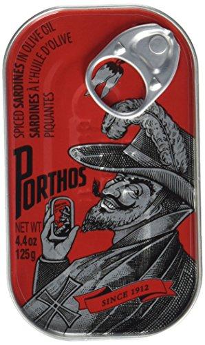 Porthos Portugiesische gewürzte Sardinen in Olivenöl, 2er Pack (2 x 125 g)