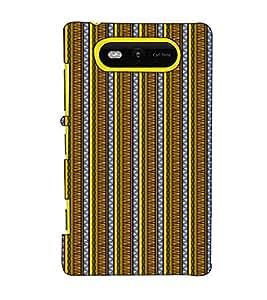 Fuson Designer Back Case Cover for Nokia Lumia 820 (Yellow designer pattern theme)
