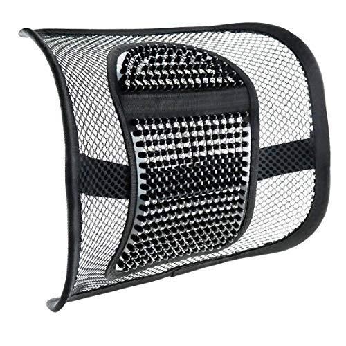 Rofay sedia cuscino schienale sedile posteriore, supporto con cinghia elastica di posizionamento e rete massaggio lombare per sedia da ufficio auto sedile posteriore per sollievo dal dolore