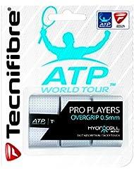 Tecnifibre Overgrip Pro Players ATP 3er - Mango de raqueta de tenis, color blanco, talla standard