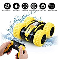 Innoo Tech Remote Control Car Waterproof Stunt Car- 2.4Ghz 4WD Off Road Water & Land Rc Cars-Double Sides Stunt Car with 360° Spins & Flips Racing Car Toys for Kids Christmas Birthday Gift