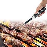 Fogun Grillthermometer Doppelte Warnung, Digital, Gabel, Barbecue-Gabel mit Thermometer Elektronisch Ohne Akku