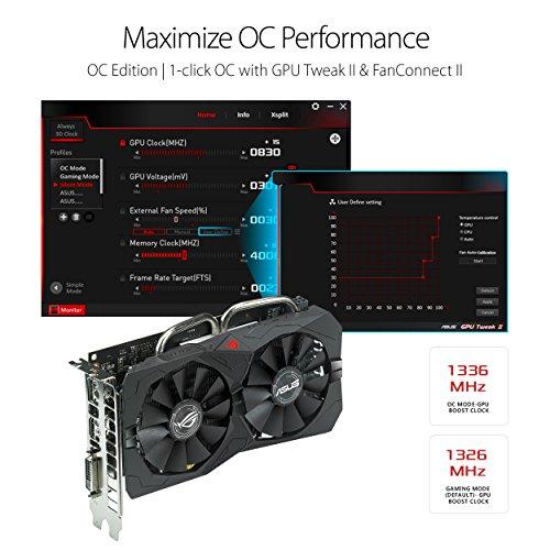 ASUS Carte Graphique ROG-STRIX-RX560-O4G-GAMING (OC Édition, AMD Radeon RX 560, 4Go Mémoire GDDR5) 7