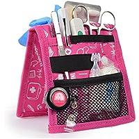 Organizador auxiliar de enfermería | Keen's | Mobiclinic | Para bata o pijama | Diseño exclusivo con estampados en color rosa | Amo la enfermería
