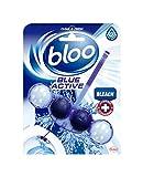 Bloo Bleu Active Toilettes RIM Bloquer, 50g, eau de Javel, étui de 10