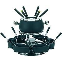 kela Lugano - Juego de fondue, 22 piezas, incluye el hornillo, color negro
