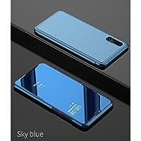 Sycode Funda con tapa para Huawei P Smartphone y Huawei P (carcasa con tapa para Huawei P Smart), color negro y transparente