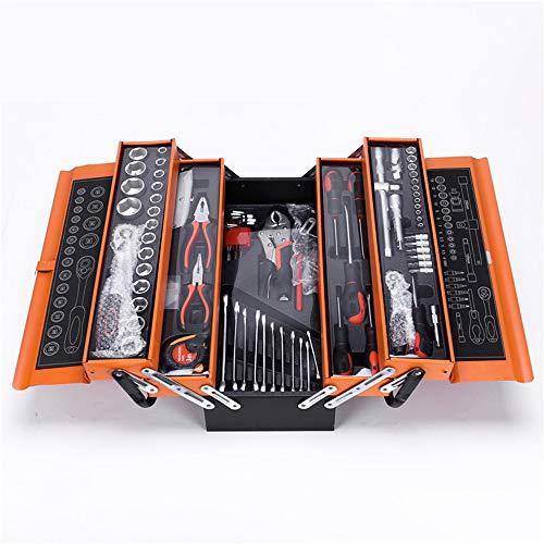Yanyu 85 Stück Werkzeug-Set Werkzeugkasten Allgemein Haushalt Werkzeug-Set mit 5-Fach Metal Box - für BAU-, Heimpflege - Premium Tool Box Set