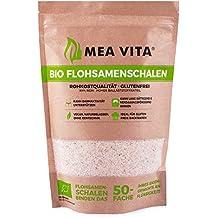 Cáscaras orgánicas de psyllium MeaVita, 99% puras, (1 x 500 g)