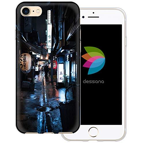 dessana Tokio Downtown transparente Schutzhülle Handy Case Cover Tasche für Apple iPhone 8 Stadt Gassen Japan