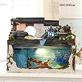 Umidificatore Creativo Piccolo Acquario, Acquario roccioso, Fontana Cascata rocciosa Soggiorno Ornamenti Decorativi da scrivania (Colore : C)