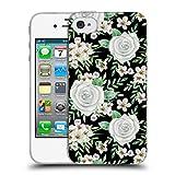 Head Case Designs Offizielle Julia Badeeva Weisse Rosen 2 Gemischte Muster 4 Soft Gel Hülle für iPhone 4 / iPhone 4S