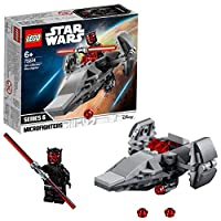 LEGO 75224 Star Wars Microfighters Sith Infiltrator Battlefront Games Set Collection with Darth Maul Minifigure and Red Lightsaber