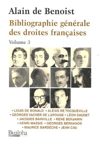 Bibliographie générale des droites françaises Volume 3