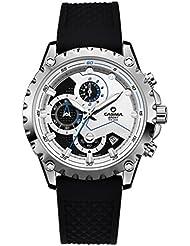 Herren Silikon wasserdichte Uhren Mode Multifunktions-Chronograph Sport Quartz Uhren Band Handgelenk