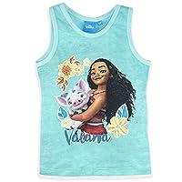 Official Disney Moana Vaiana Girls Vest Tank Summer Top 100% Cotton - New 2017 - Blue 3