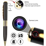 Fleejost HD Quality Video/ Audio Hidden Recording, Hd Sound Clarity Pen Camera With Memory Card Inserting Facility
