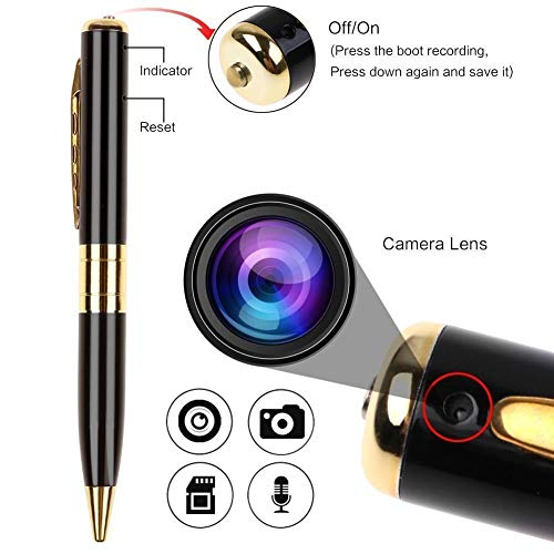 Fleejost HD Video/Audio Hidden Recording, HD Sound Clarity Pen Camera with Memory Card Inserting Facility