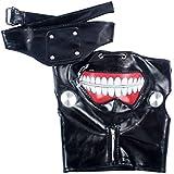 KOSBON Tokio Ghoul Kaneki Ken Cosplay máscara máscara de Halloween Cool para cremallera