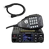 Retevis RT95 Doppia Banda Radio Mobile per Auto 25W 200 Canali per Radio Amatoriali con Cavo di Programmazione e Microfono (Nero 1 Confezione)