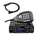 Retevis RT95 Mini Mobilgerät Ham Radio Walkie Talkie VHF/UHF 144-146 MHz / 430-440 MHz 25W 200 Kanäle Funkgerät Car Transceiver Amateur mit Programmierkabel (Schwarz)