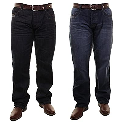 Mens Firetrap Editor Fit Straight Leg Casual Jeans In Denimwash & Indigo