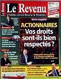 Telecharger Livres REVENU FRANCAIS LE No 621 du 18 05 2001 ACTIONNAIRES VOS DROITS SONT ILS BIEN RESPECTES G RAMEIX BNP PARIBAS MICHEL PEBEREAU RENAULT NISSAN SOLVAY ALOIS MICHIELSEN LES PERSPECTIVES BOURSIERES DES GROUPES PARAPETROLIERS J M BAYLET (PDF,EPUB,MOBI) gratuits en Francaise