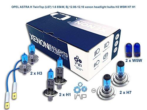 Preisvergleich Produktbild IMIP 8-pack Xenon Scheinwerferbirnen H3 W5W H7 H1, Kompatibel