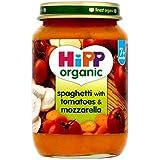 Hipp Spaghettis Organiques Avec Des Tomates Et Mozzarella 7 + Mois 190G - Lot De 2