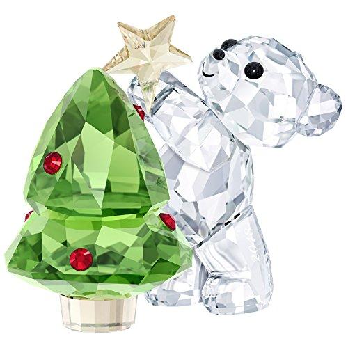 Swarovski Kris Bear-Christmas, A.E. 2018, Kristall, Mehrfarbig, 4.4 x 4.9 x 3.1 cm