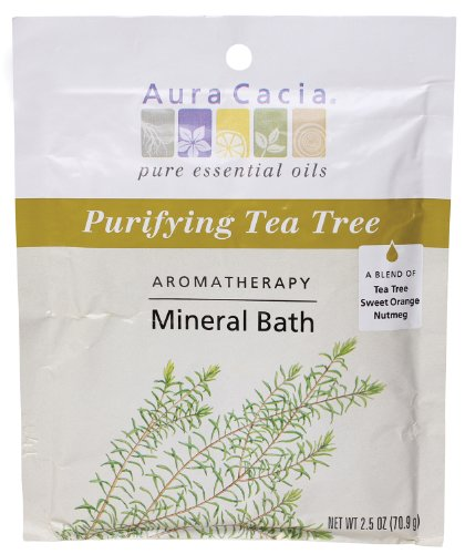 Aura Cacia Aromatherapy Mineral Bath, Purifying Tea Tree, 2.5 ounce packet (Pack of 3) by Aura Cacia
