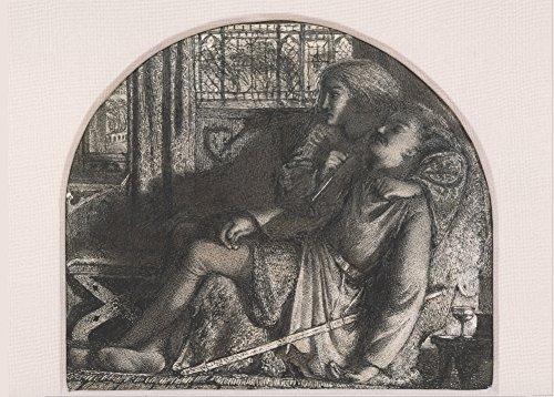 EDWARD BURNE-JONES I rose nel silent night, reso I miei dagger sharp and bright C 1859-60 Cartolina illustrata, formato A3, 250 g/mq, riproduzione