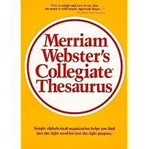 MERRIAM-WEBSTER'S COLLEGIATE THESAURUS INDEX