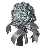 Sunlera Romantische Strass-Band-Braut-Holding-Rosen-Blumen Wedding Bouquet