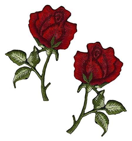 Lot de 2fleurs rose rouge Kit