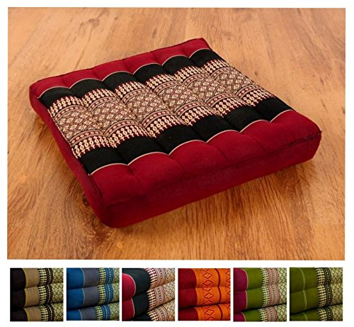 livasia Kapok Sitzkissen 35cmx35cmx6,5cm der Marke Asia Wohnstudio, asiatisches Stuhlkissen,...