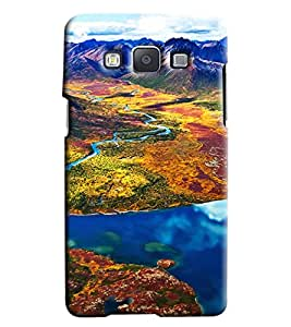 Clarks Mountain Landscape Hard Plastic Printed Back Cover/Case For Samsung Galaxy E5