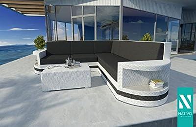 Nativo© GartenmÖbel Rattan Soda Rattan Lounge Sofa Atlantis Corner V2 von NATIVO Deutschland - Gartenmöbel von Du und Dein Garten