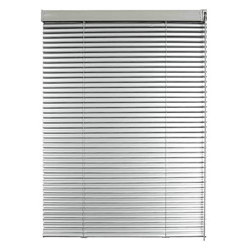 AQAWAS Aluminium-Jalousie Aussen, Fensterjalousie Lamellen S-förmige Klinge, Tür Fenster Rollo, Blickdicht Für Türen Und Fenster,Silver_35x48in/90x122.5CM (35x48 Jalousien)